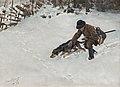 Bruno Liljefors - Jägare med hund 1891.jpg