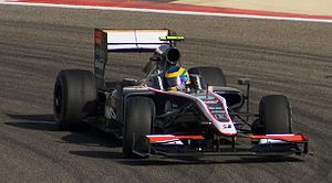 Hispania F110 - Bruno Senna completed the F110's shakedown test during practice for the 2010 Bahrain Grand Prix.