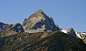 Buck Mountain (Wyoming) - Buck Mountain from Teton Point turnout
