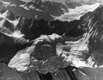 Buckskin Glacier, bergschrund on cirque glacier, August 9, 1957 (GLACIERS 7166).jpg