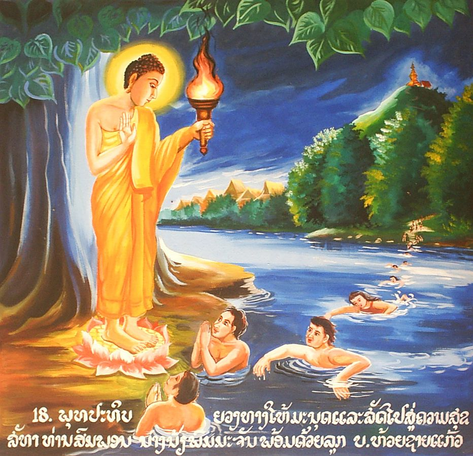 Buddha Lights the Way to Englightenment