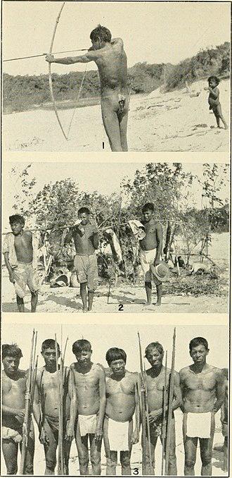 Yaruro people - Yaruro warriors on a hunting trail