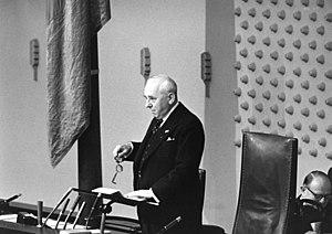 Robert Pferdmenges - Robert Pferdmenges in 1961 at the Bundestag.