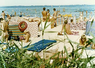 Freikörperkultur - East German nude beach at the Bay of Wismar, 1984