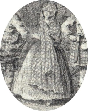 Earasaid - Detail of an illustration from Burt's Letters, 1754