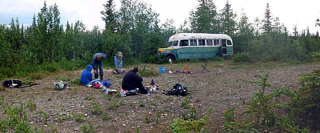 Der Bus 142 am Stampede Trail in Alaska, der in diesem Buch eine wichtige Rolle spielt.
