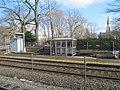 Bus shelter at Wellesley Square station inbound platform, April 2016.JPG