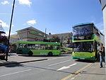 Buses at Cowes Co-op during Cowes Week 2011 2.JPG