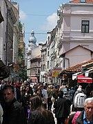 Busy Ferhadija street, Sarajevo