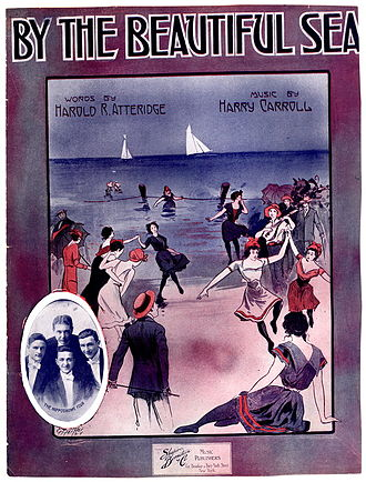 By the Beautiful Sea (song) - Cover, sheet music, 1914