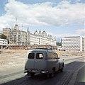 Byggeplass, bil, Victoria terrasse, Vikaterrassen, kontorbygning, Storebrand forsikring, Ruseløkkbasarene Henrik Ørsted c1965 OMU OB.A8063.jpg