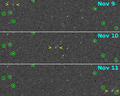 C-2012 S1 movement by MESSENGER during 9-11 November 2013 (crop).png