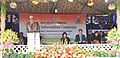 C.L. Ruala addressing the gathering during the Public Information Campaign, organised by the PIB, Aizawl, at Khawlailung, Model Village selected by him under the Saansad Adarsh Gram Yojana (SAGY), in Serchhip District.jpg