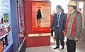 C.L. Ruala visiting the DAVP Photo Exhibition, during the Public Information Campaign, organised by the PIB, Aizawl, at Khawlailung, Model Village selected by him under the Saansad Adarsh Gram Yojana (SAGY).jpg
