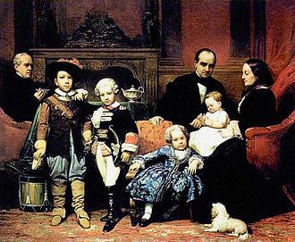 Carlos Luis de Ribera y Fieve - Family of Don Gregorio Lopez Mollinedo by Carlos Luis, private collection, 1854