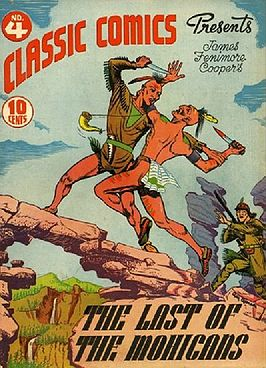 Cover van een comic van The Last of the Mohicans
