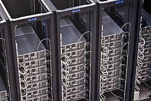 Deutsch: Serverraum im CERN (Schweiz) English:...