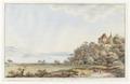 CH-NB - Erlach, Schloss, und Bielersee von Südwesten - Collection Gugelmann - GS-GUGE-ABERLI-D-1.tif