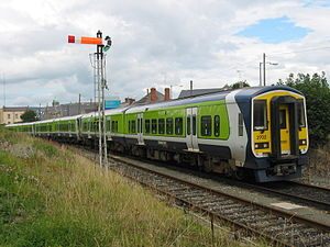 Dublin–Rosslare railway line - Now withdrawn 2700 Class DMU (2702) at Arklow