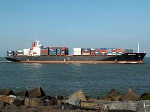 CMA CGM Komodo p3 approaching Port of Rotterdam, Holland 24-Feb-2006.jpg