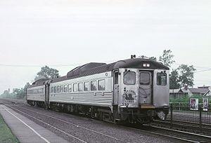 Dunellen station - A CNJ Budd RDC at Dunellen station on July 4, 1969