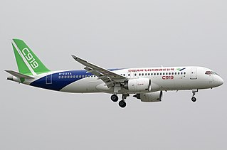 Comac C919 Narrow-body twinjet airliner by Comac