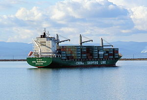 China Shipping Container Lines - Image: CSCL Port Angeles