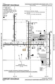 Cvg Airport Map Cincinnati/Northern Kentucky International Airport   Wikipedia