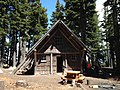 Cabin and Workers, Mt Hood National Forest (23346515182).jpg