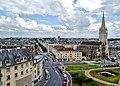 Caen Château de Caen Blick auf die Rue Montoir Poissonnerie 2.jpg