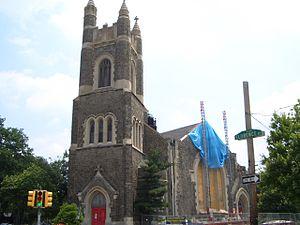 Calvary United Methodist Church (Philadelphia) - The church undergoing renovation in 2005