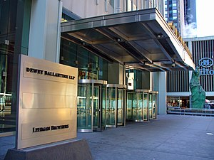 Dewey & LeBoeuf - Dewey Ballantine's principal office at the Calyon Building, New York City.
