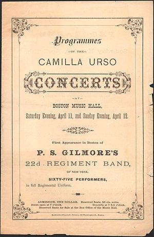 Camilla Urso - Boston concerts, 1863