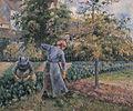 Camille Pissarro - Dans le potager à Pontoise - 1881.jpg
