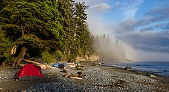 Campsite at Mystic Beach, Vancouver Island, Canada.jpg