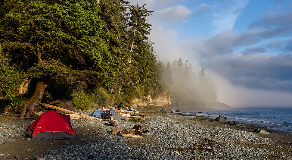 Campsite at Mystic Beach, Vancouver Island, Canada