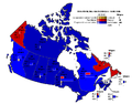 Canada 1958 carte vote populaire.PNG