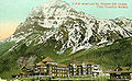 Canadian Pacific Railroad Hotel and Mount Stephen, Field, British Columbia, c. 1908.jpg