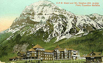 Canadian Pacific Hotels - Mount Stephen Hotel in Field, British Columbia, 1908