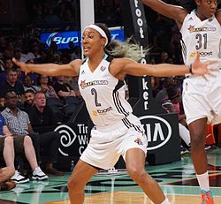 Candice Wiggins at 2 August 2015 game cropped.jpg