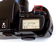 CanonEOS100TopRight with shutter button shown.JPG