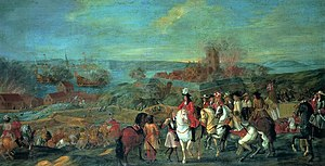 Norway during the Great Northern War - Capture of Helsingborg (Claus Moinichen. 1688)