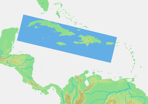The Greater Antilles.