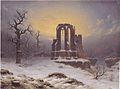 Carl Hasenpflug - Kirchenruine im Schnee -1853.jpeg