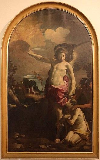 Carlo Bononi - Guardian Angel, (late 1620s, National picture gallery at Palazzo dei Diamanti, Ferrara)