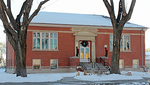 Carnegie Library (Monte Vista, Colorado) - The library in late 2012.