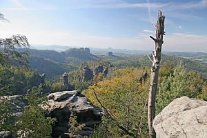 Saxon Switzerland National Park - View from the Carolafelsen