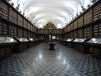 Biblioteca Casanatense - interior of Biblioteca Casanatense