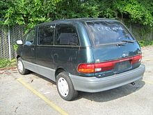 A Disabled And Marked Cash For Clunker Toyota Previa Trade In