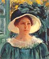 Cassatt Mary Young Woman in Green, Outdoors in the Sun 1914.jpg